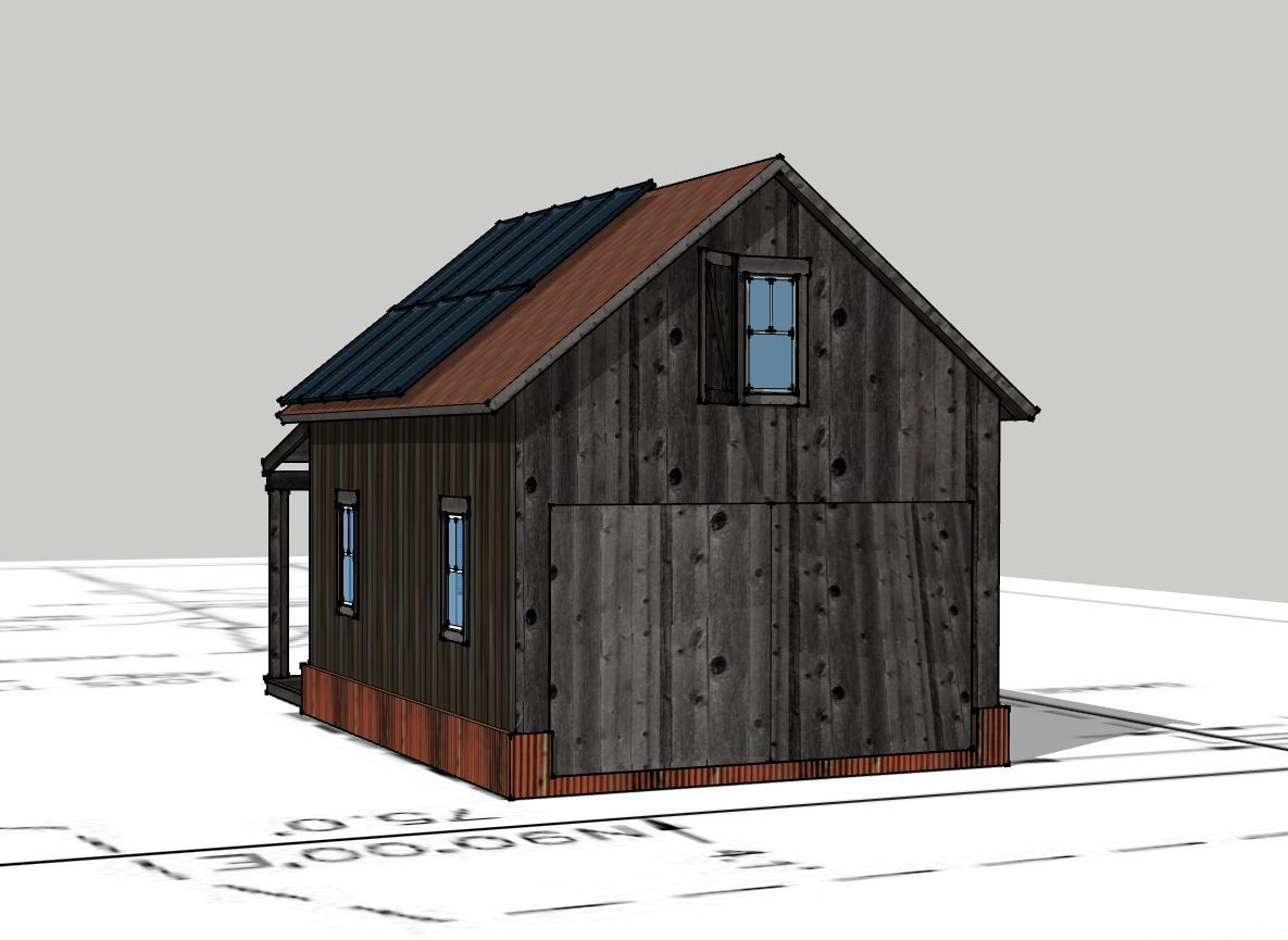 3D Rendered View of the restored historic building.