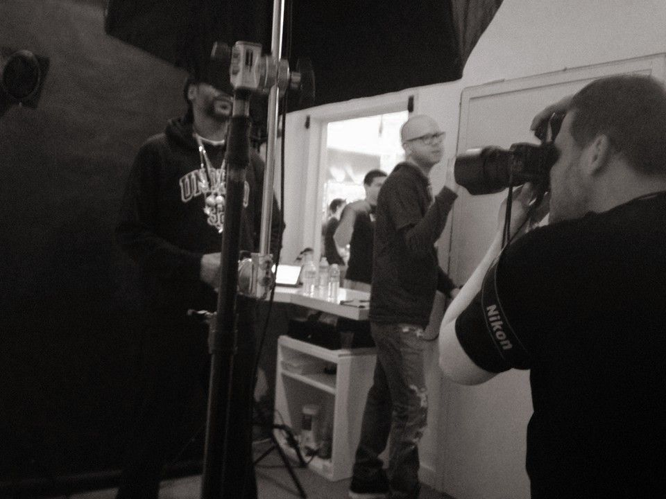 Snoop Dogg photoshoot BTS