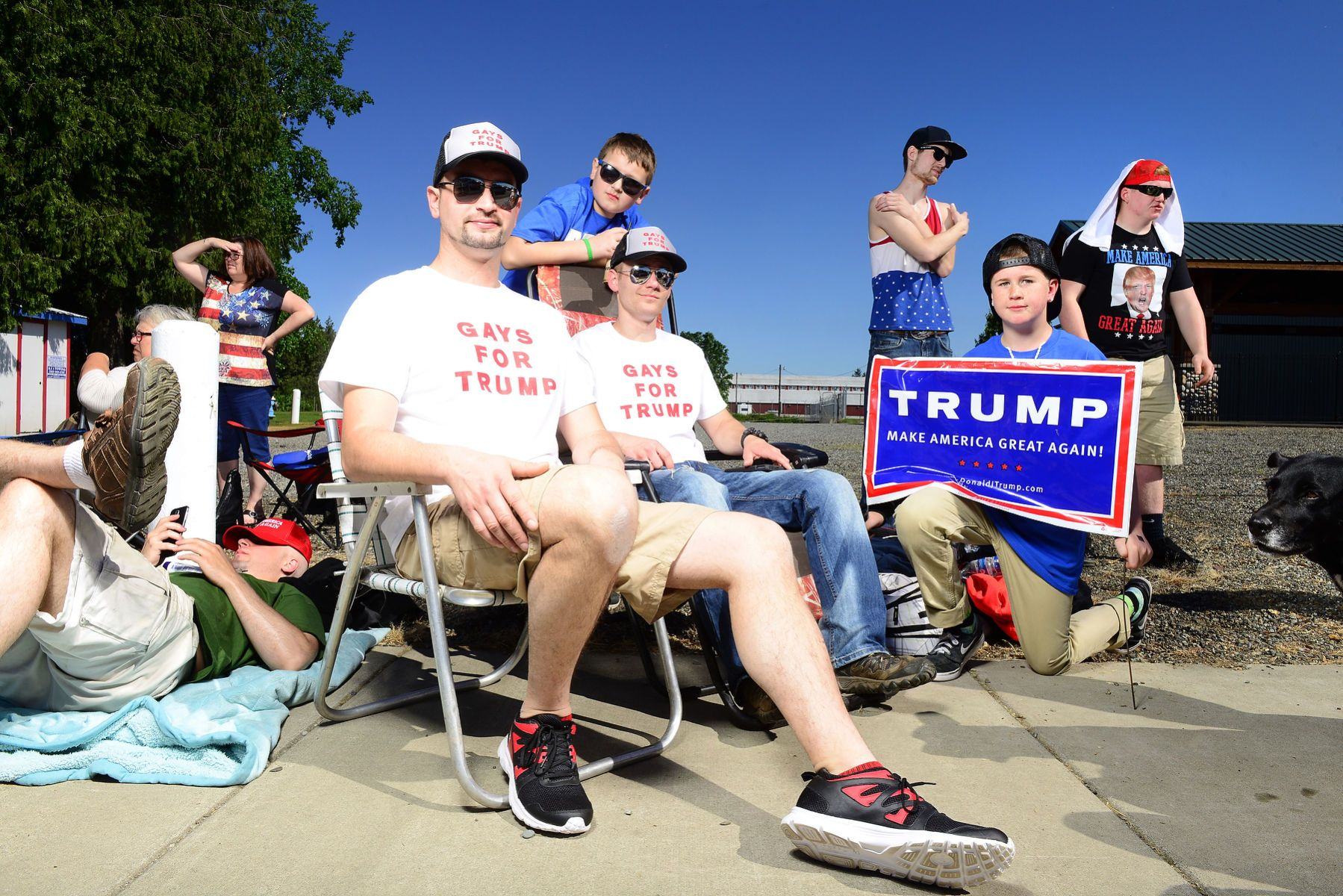 Donald Trump in Lynden, Washington photos