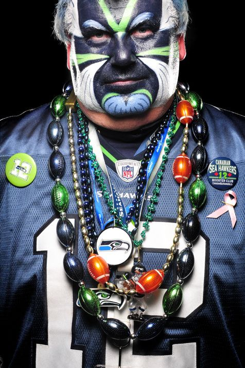 Seattle Seahawks fans portraits