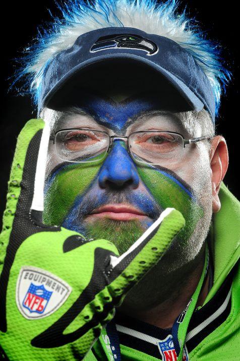 Seattle Seahawks fan portraits