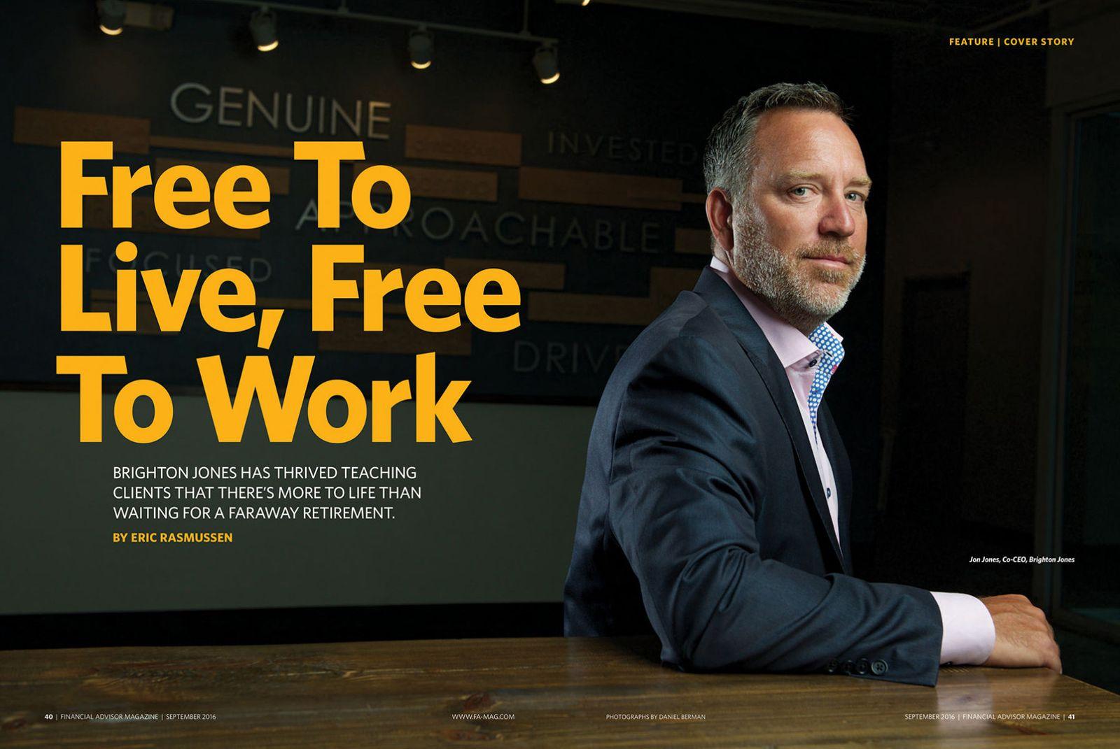 Brighton Jones CEO Jon Jones at their offices in Seattle.