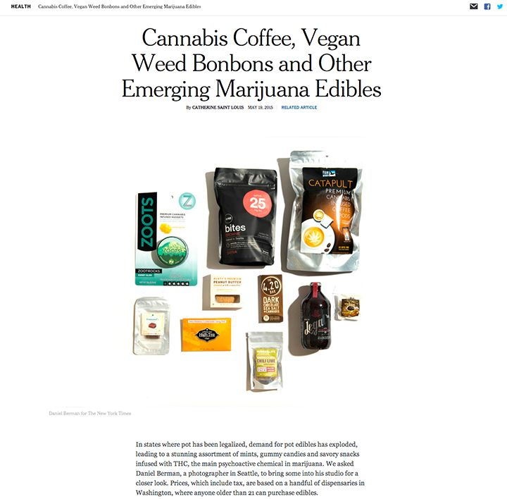 Marijuana edibles for The New York Times