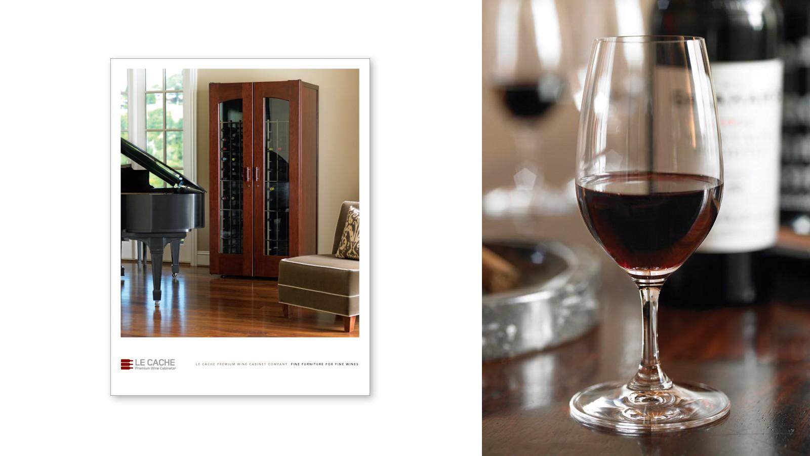 LE CACHE PREMIUM WINE CABINET CONSUMER BROCHURE