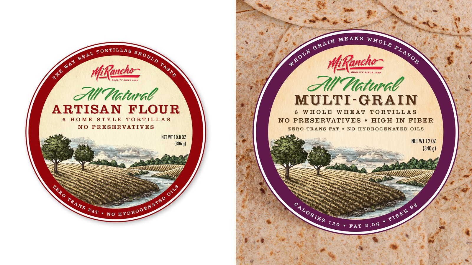 MI RANCHO ALL NATURAL TORTILLA LABELS