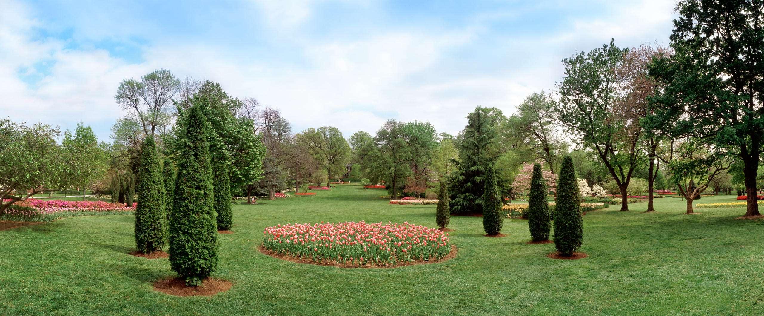 PORTFOLIO - Baltimore - Neighborhoods      #30  Formal Garden with Tulip Beds