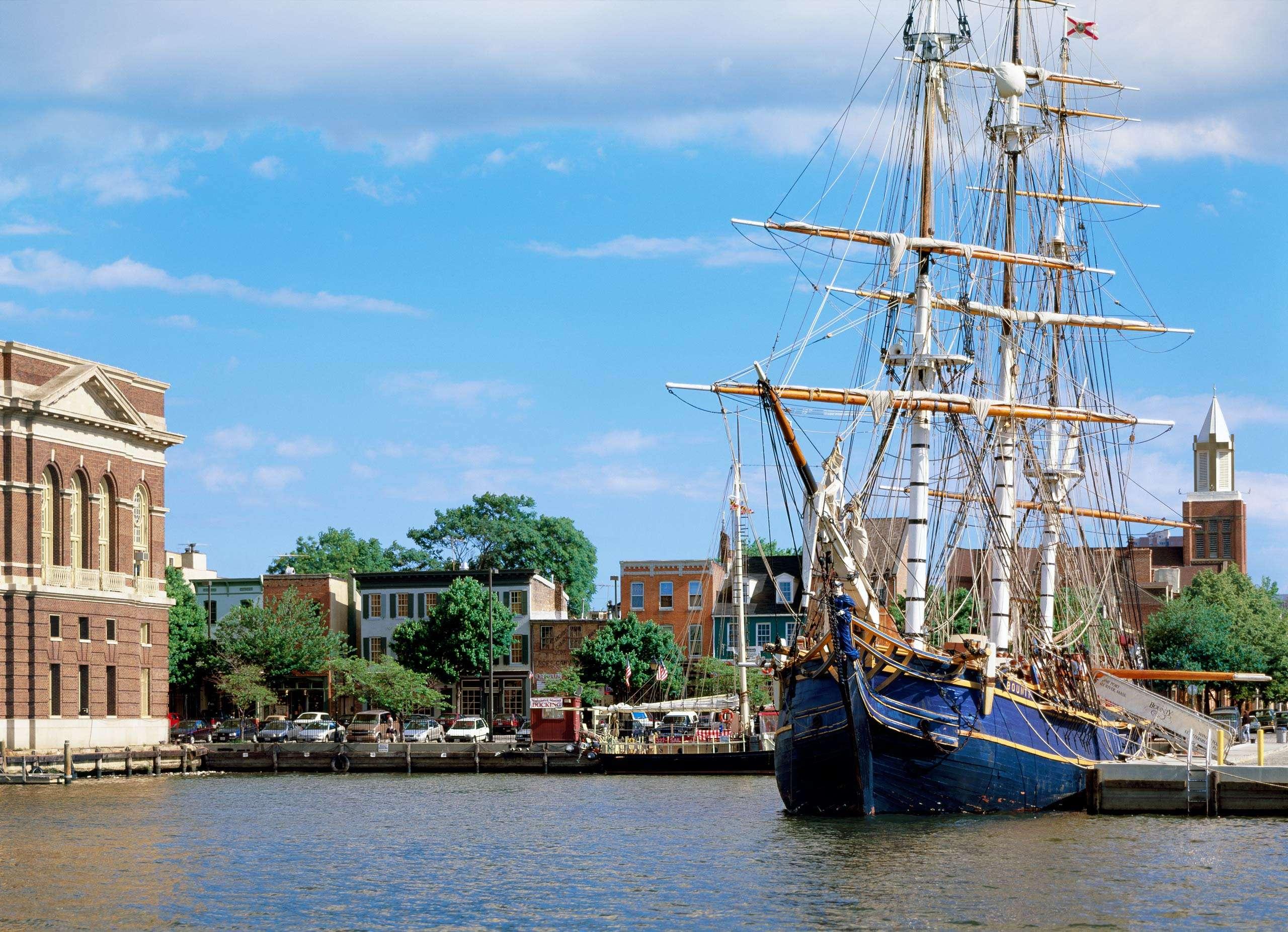 PORTFOLIO - Baltimore - Neighborhoods   #22   Tall Ship Docked in Fells Point Baltimore