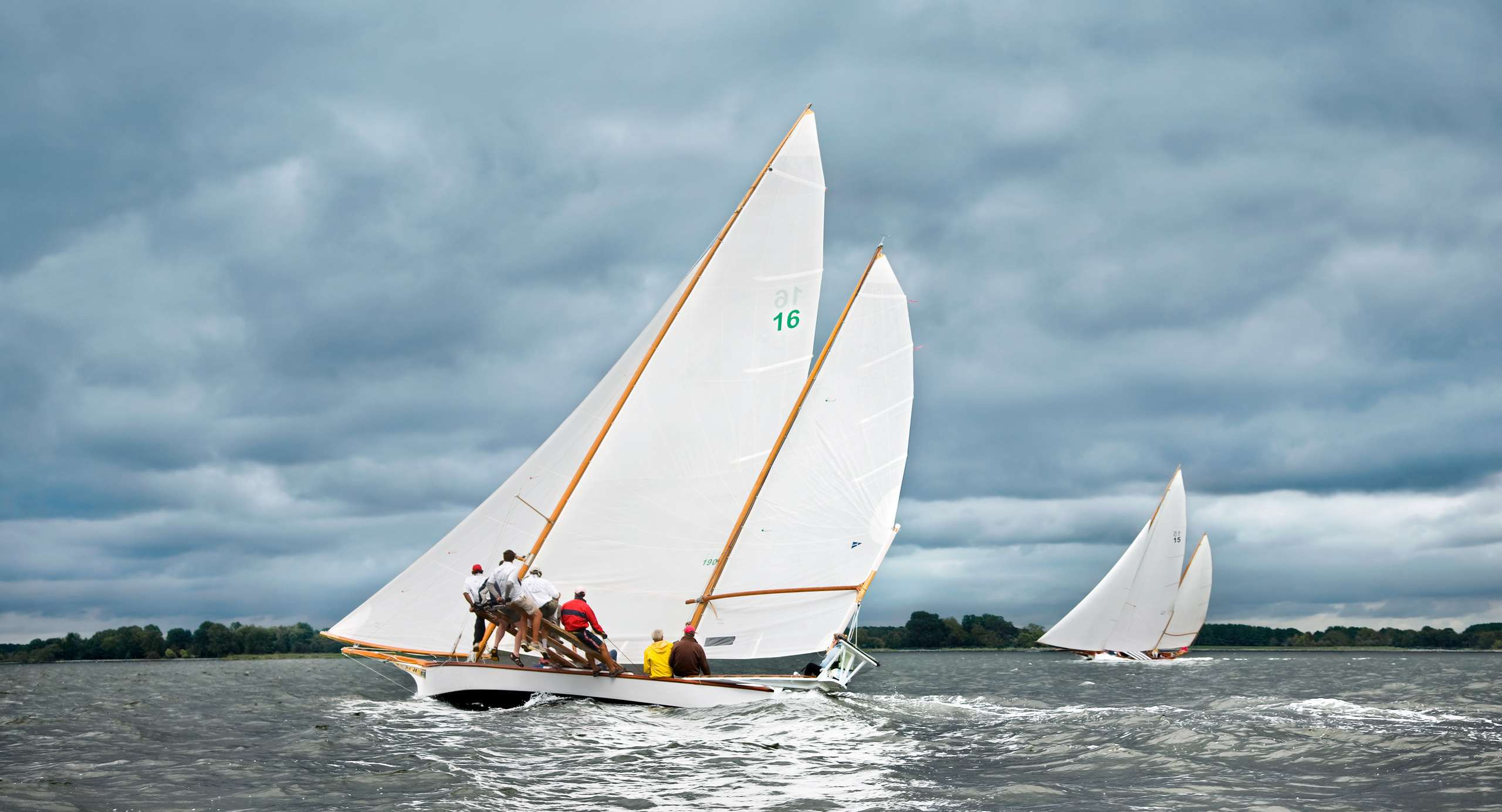 PORTFOLIO - Sailing - Log Canoes #14   PCG531