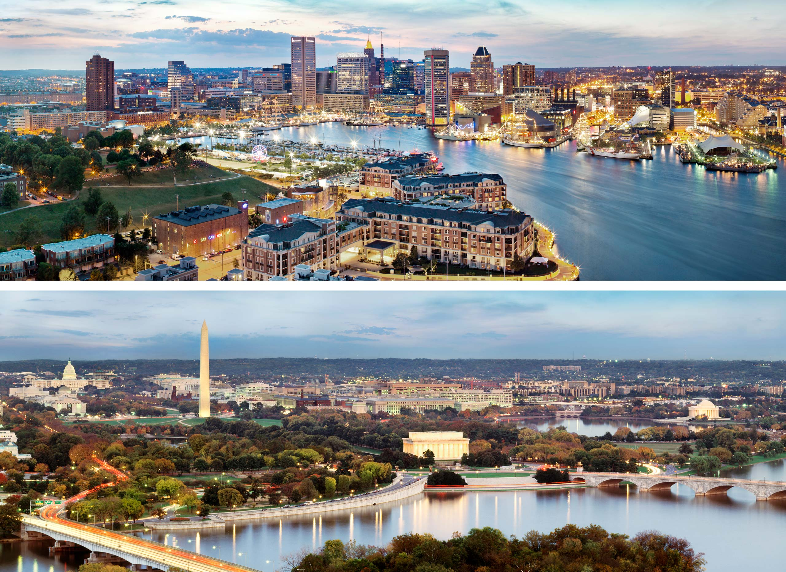 """PORTFOLIO - Baltimore - Skyline  #1 Campaign Theme: """"TWO GREAT CITIES, ONE GREAT AIRPORT"""""""