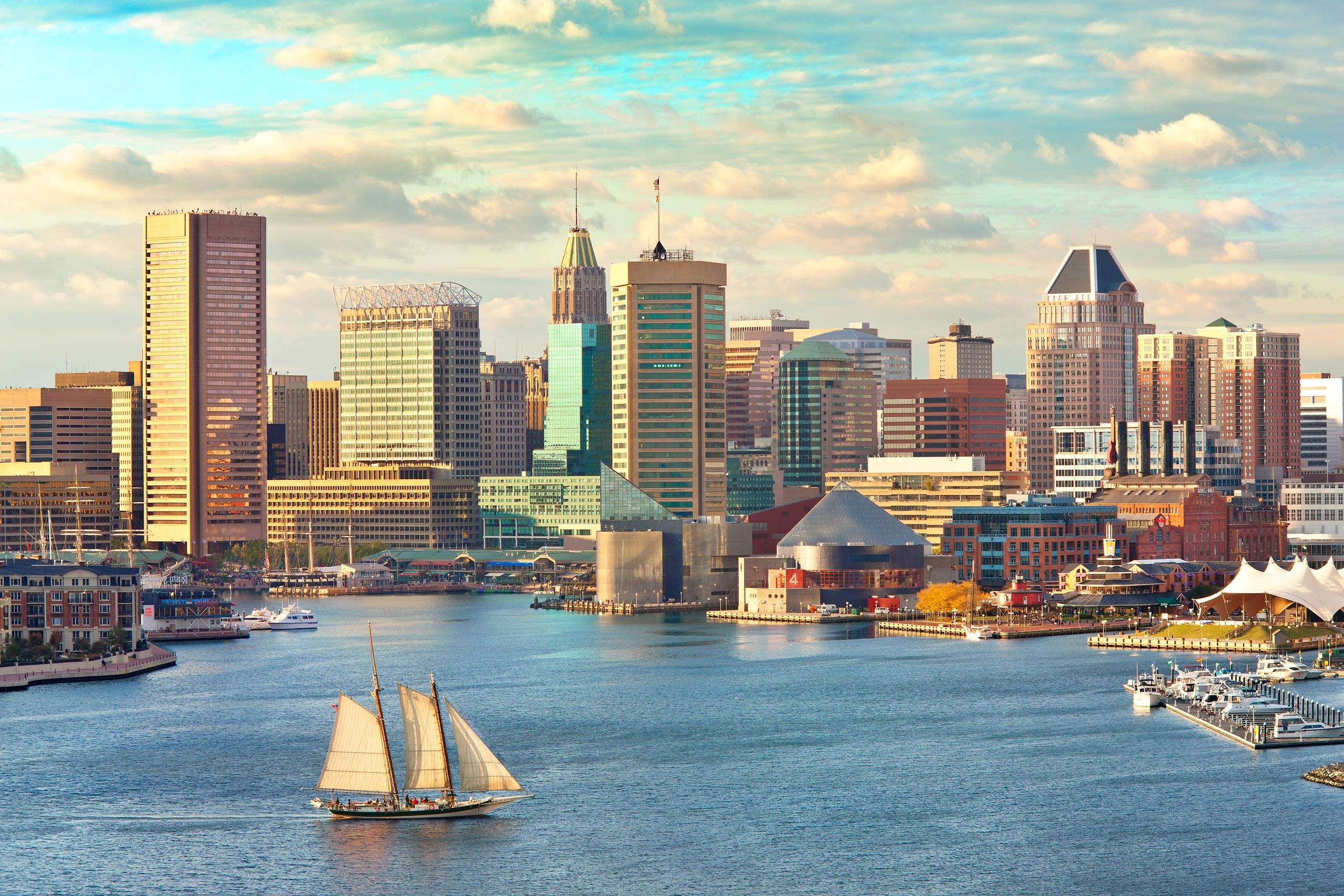Tall Ship with Baltimore Skyline