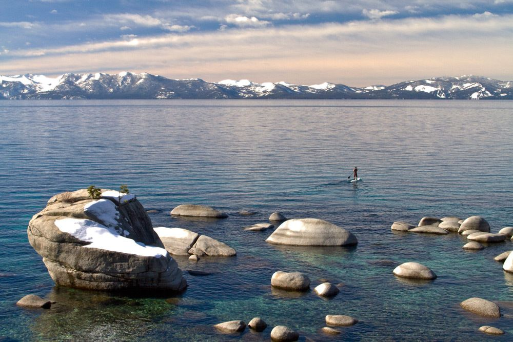 Paddle Boarder on Lake Tahoe