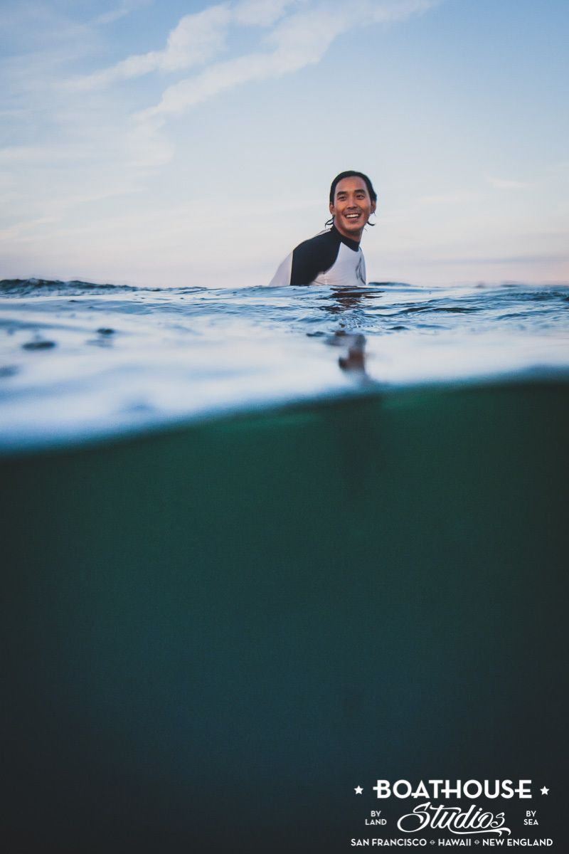 At The Beach with a Surfing Ohana