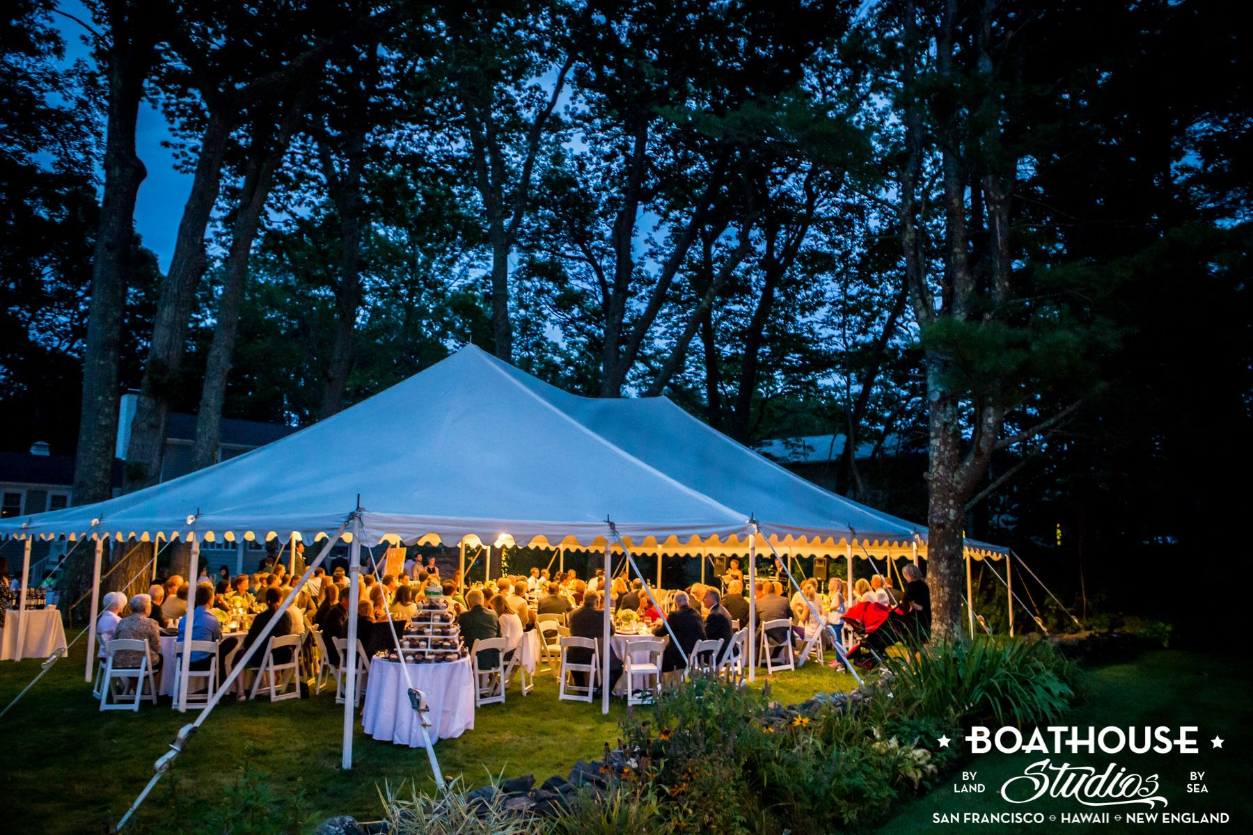A chef's gourmet backyard wedding.