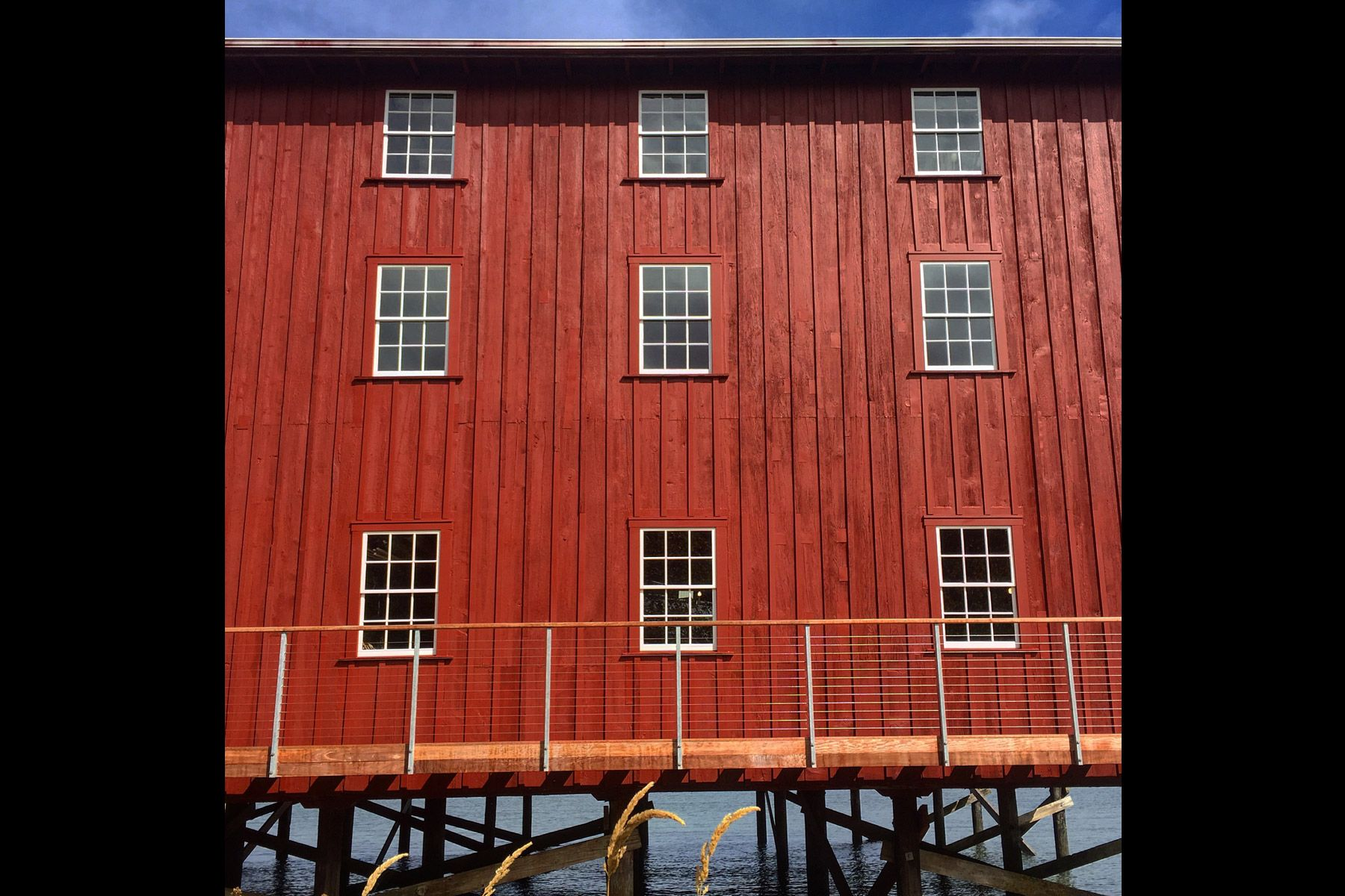 red barn, custom, astoria, river, fenestration, cannery