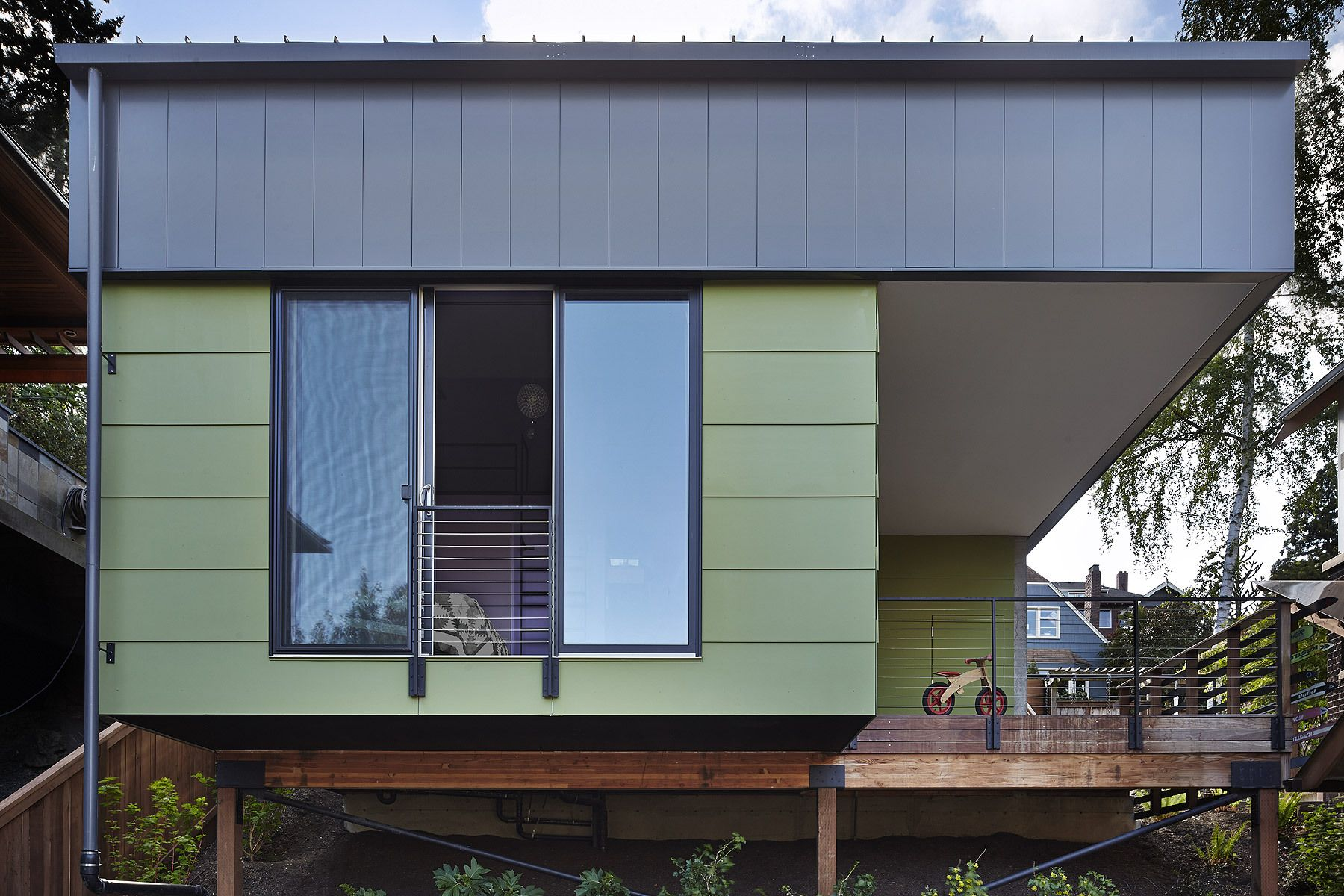 roof, modern cabin