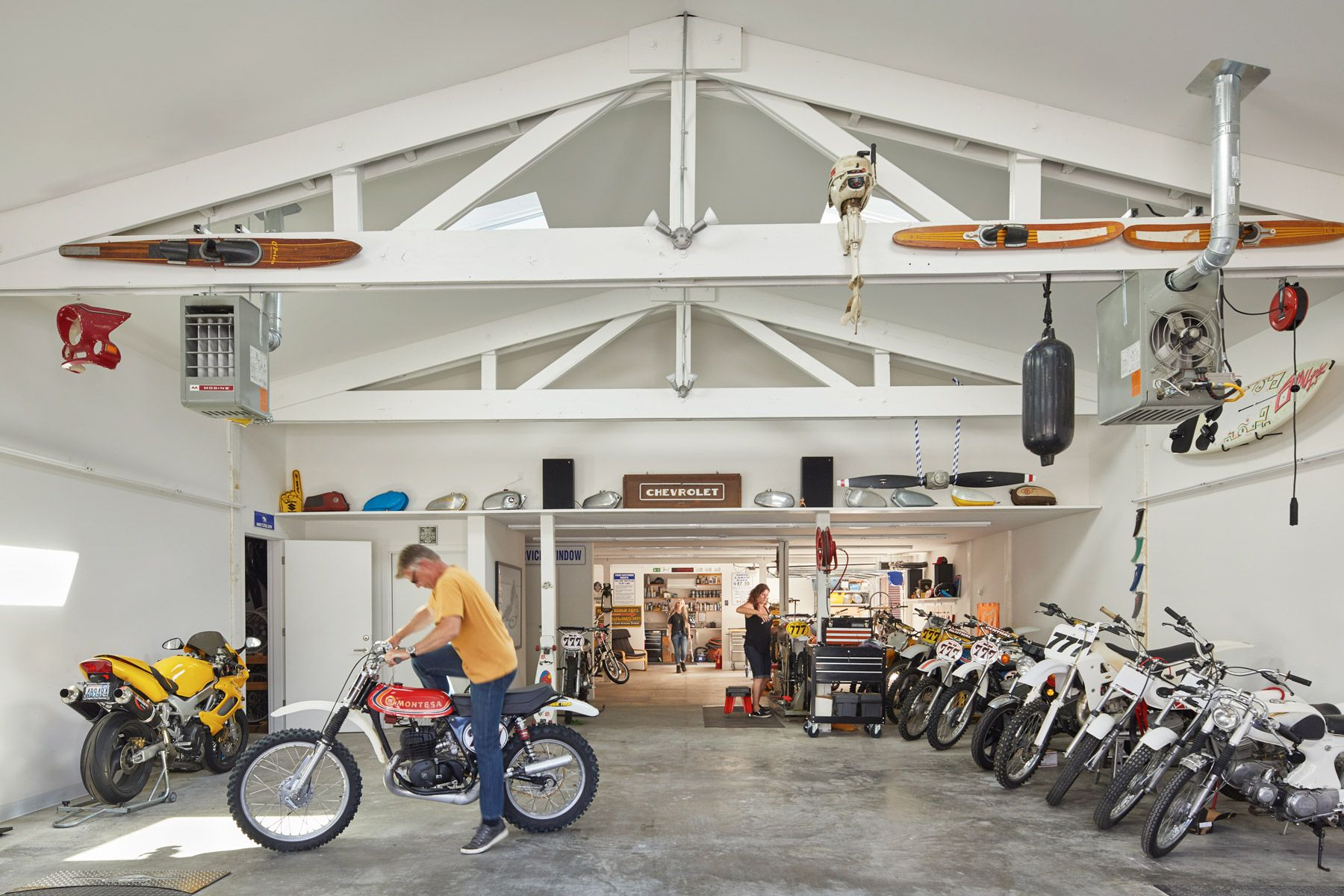 garage, dirtbike, seattle architect, dow built