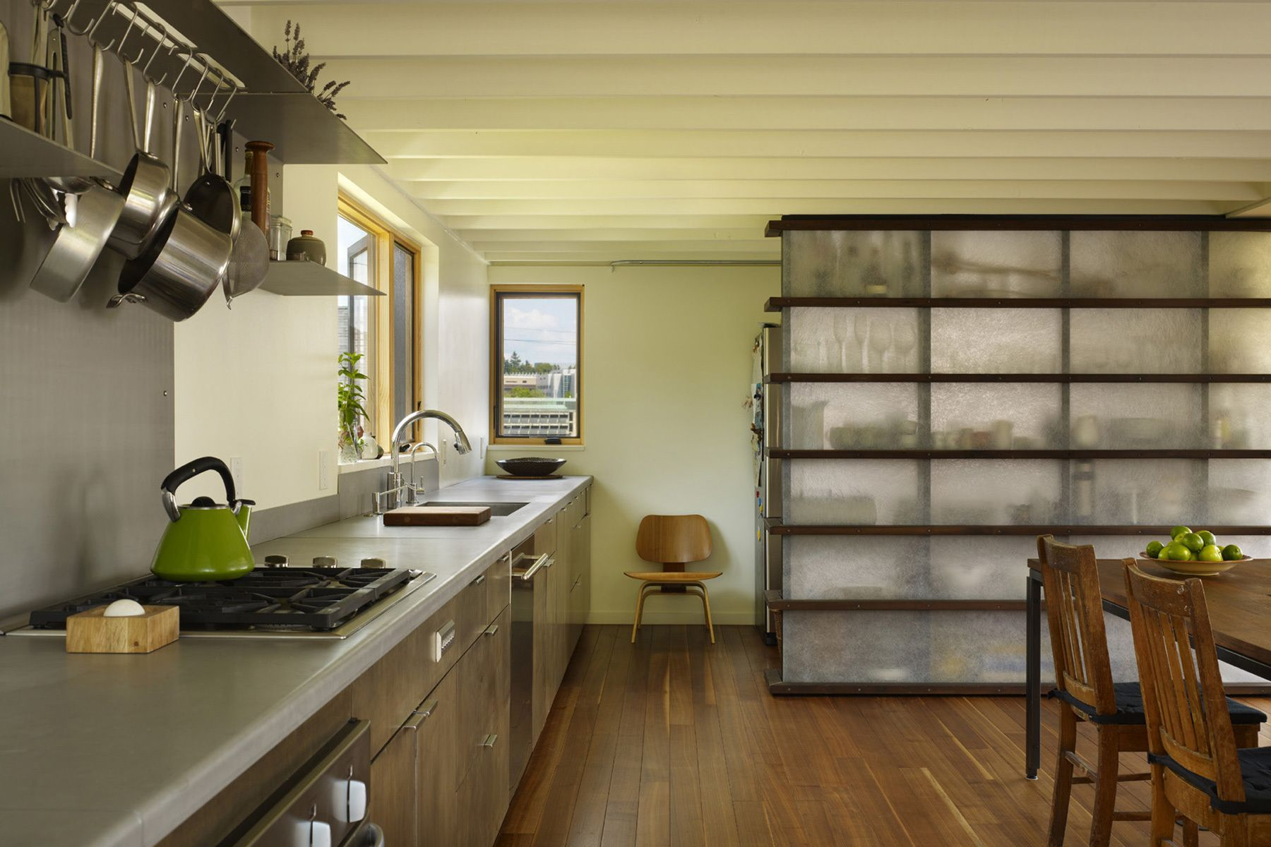 modern kitchen, dining, pantry, translucent, home architect