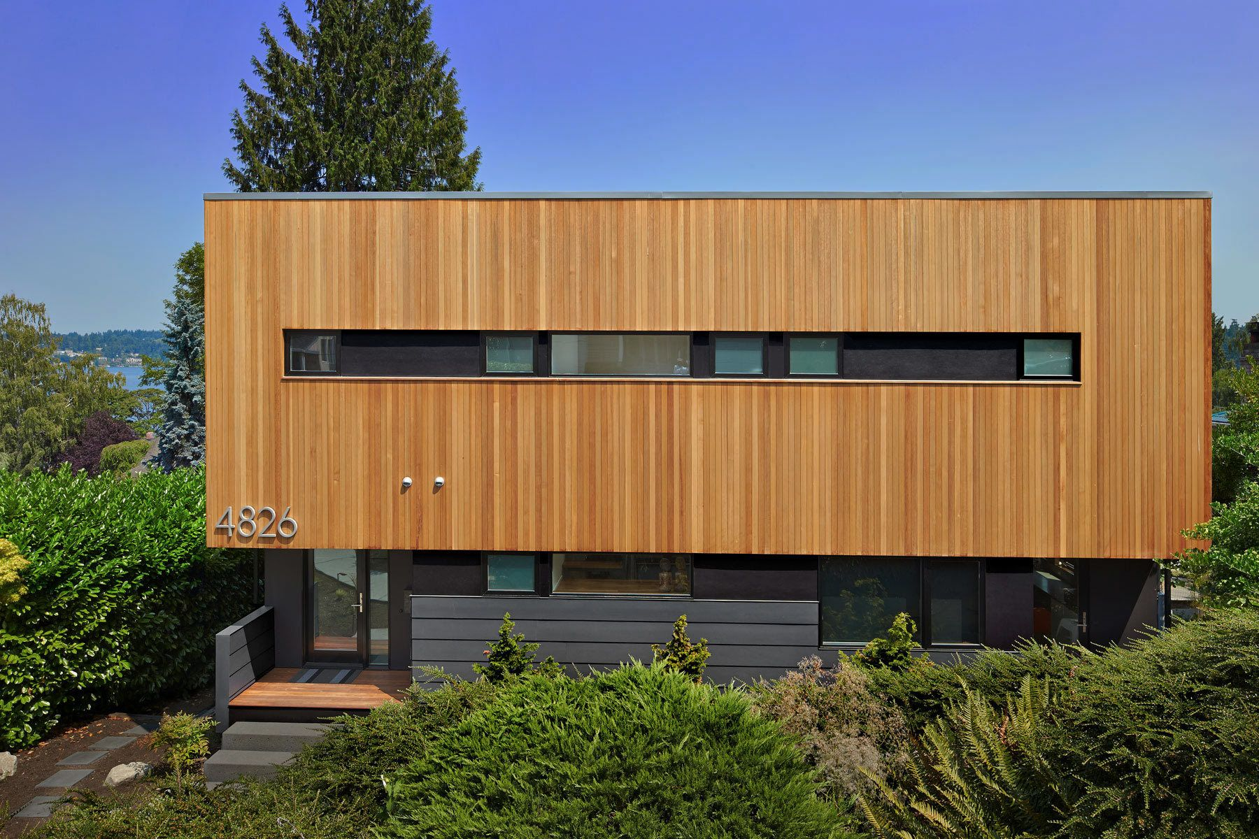 cedar, slot window, seattle, architect, dwell