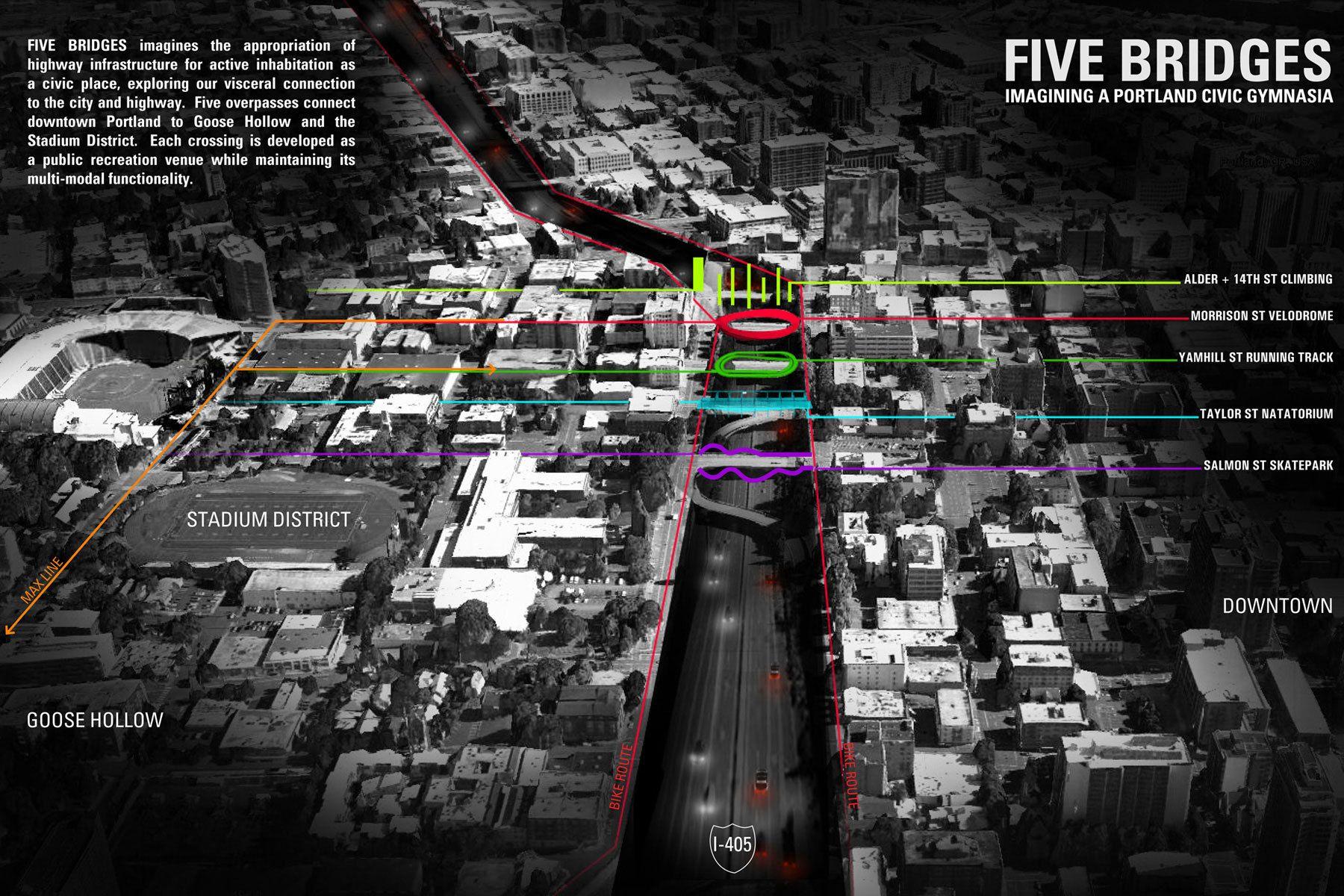 Five Bridges, Stitch Competition