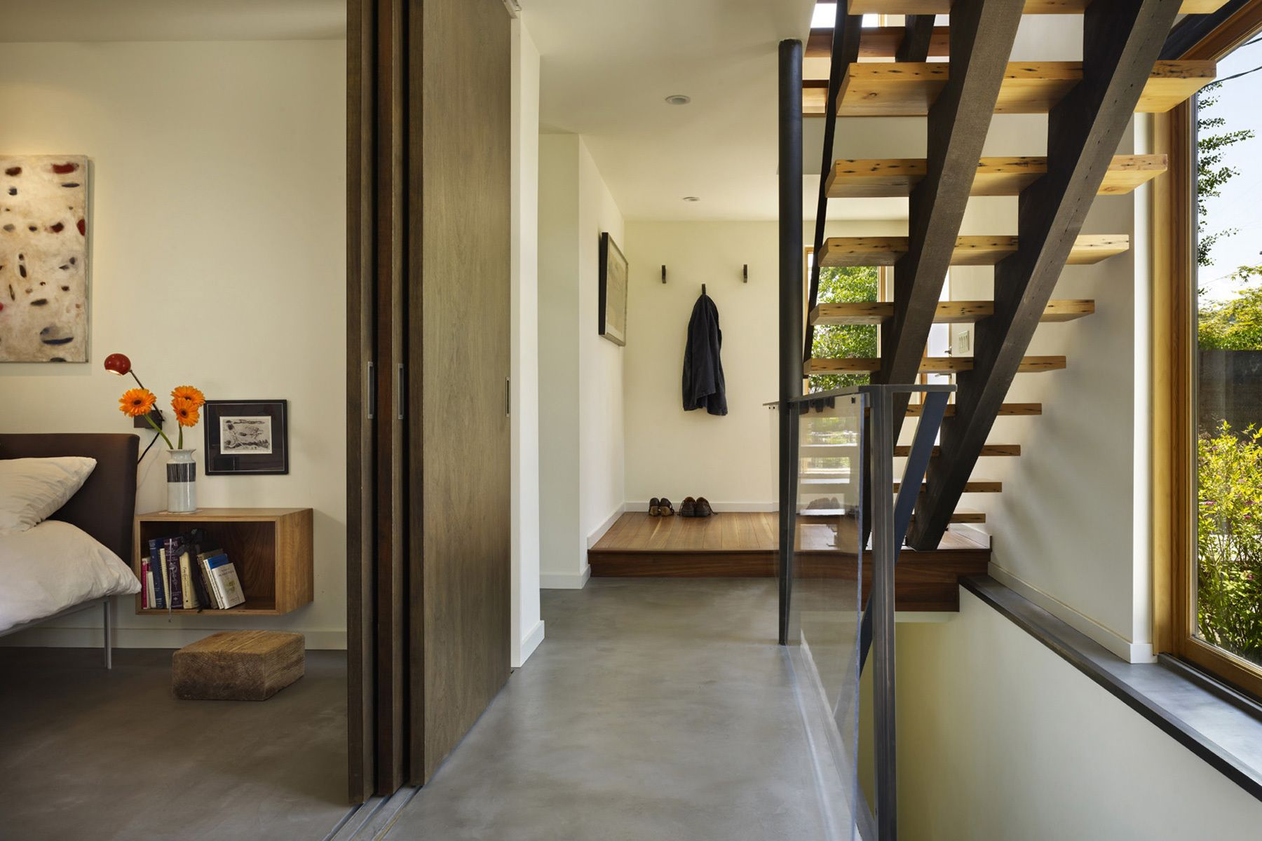 home architect, stair, master bedroom, entry