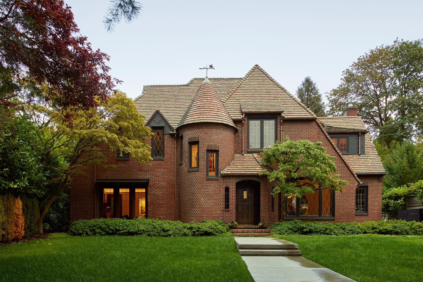 modern tudor, modern, Seattle estate, contemporary mansion, remodel