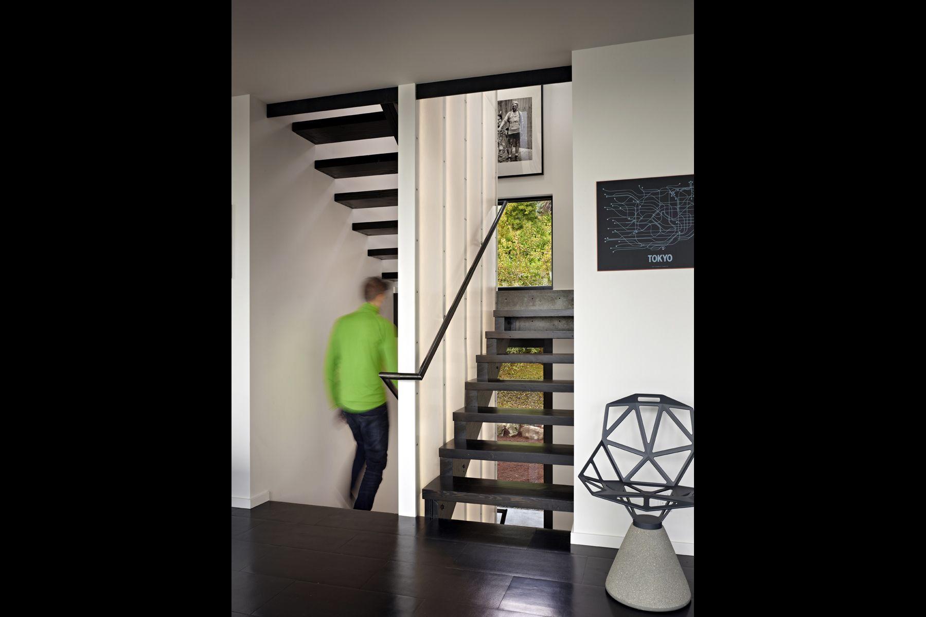 custom steel & wood stair