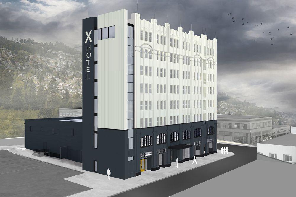 modern hotel, elevator, historic, astoria