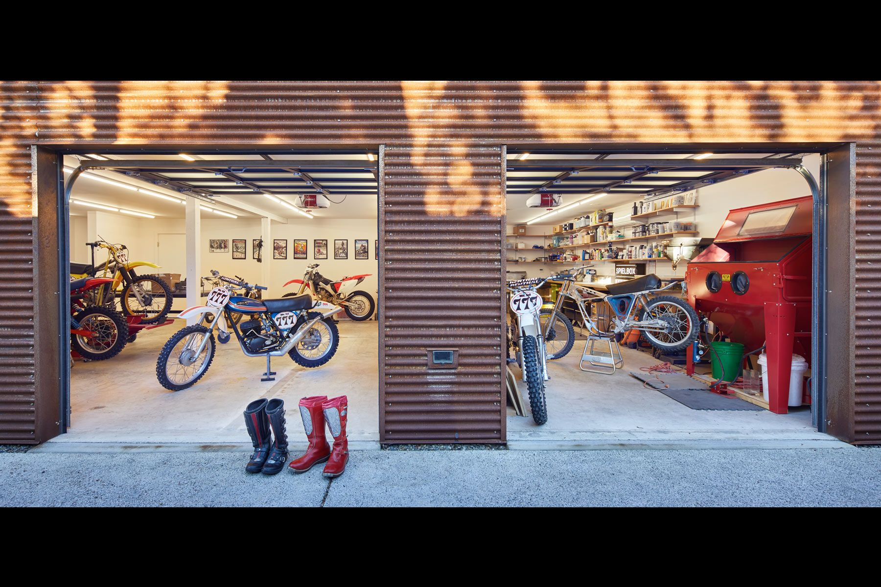 workshop, man cave, moto, dirtbike, seattle architecture
