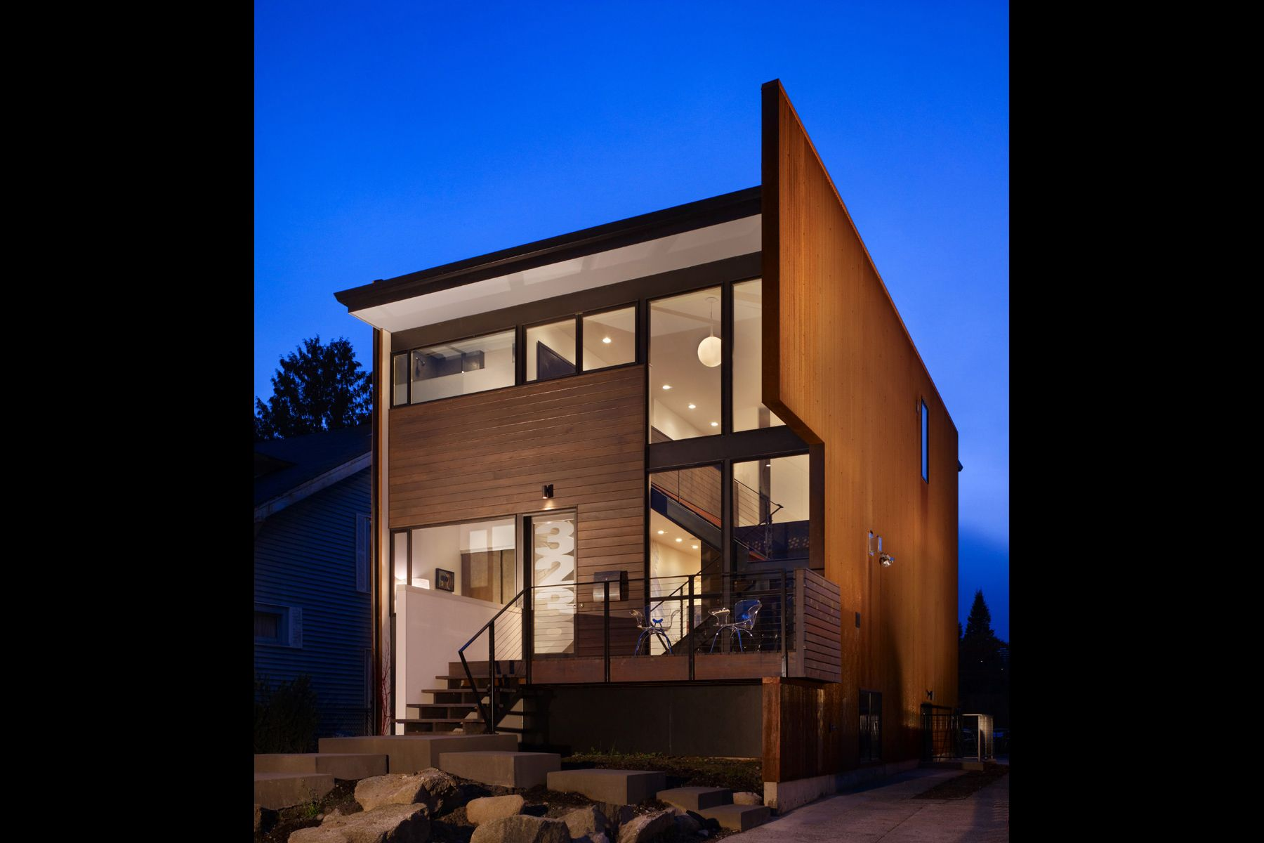 corten, Seattle, urban, infill, modern, dwell