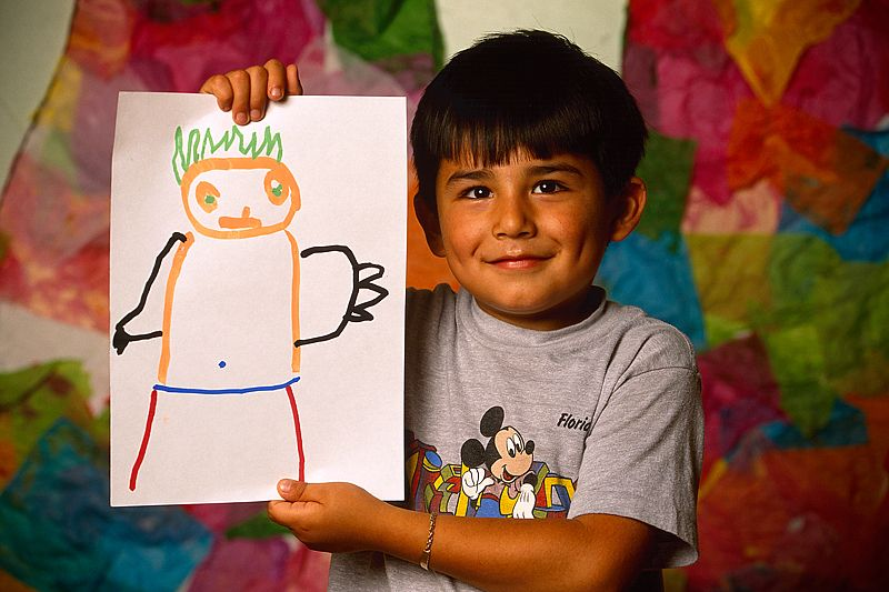Young Boy with his Self-Portrait