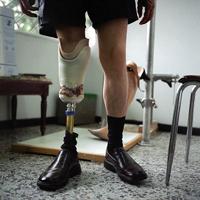 Gunshot victim at the Military hospital in Bogota