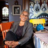 Alice Walker at her home in Berkeley California