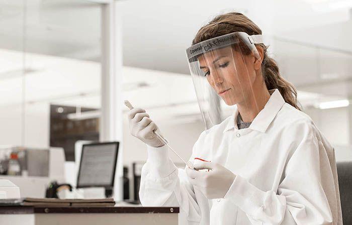 Photo of biotech employee
