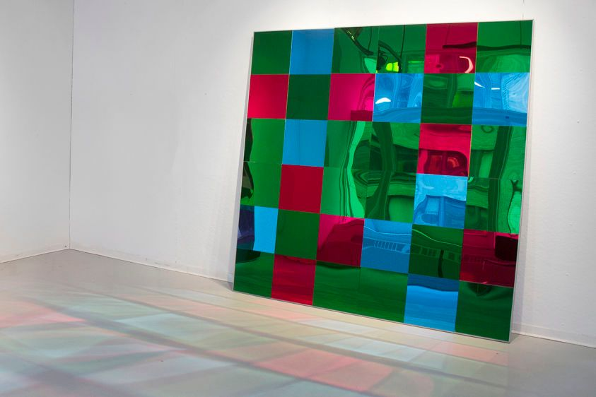 CMOS/TRAS CMOS (2014)Mirrors, wooden frame, aluminum coating panels 72x72x4 inches /72x72x4 inches