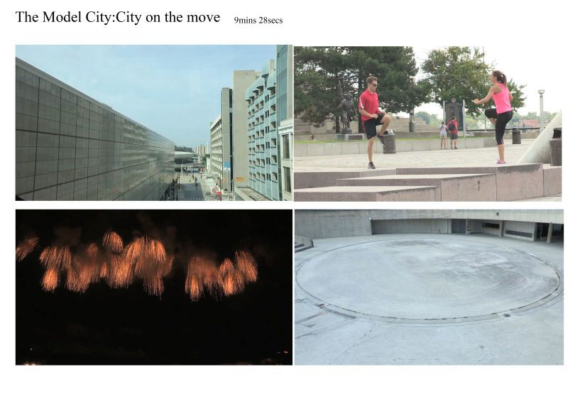 The Model City: City on the Move  (2014)9mins 28 secsVideo, Archival images, installation