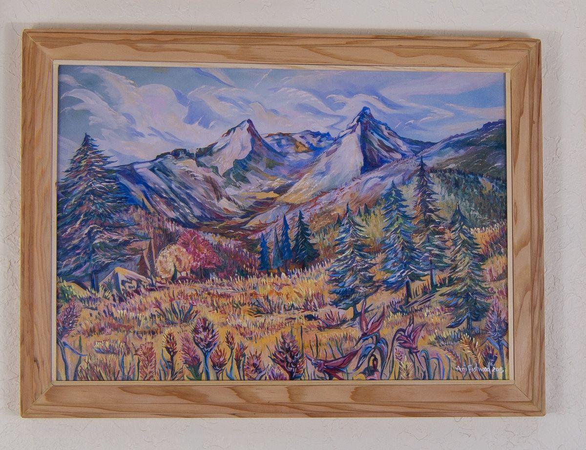 Douglas Fir framed trapper's peak
