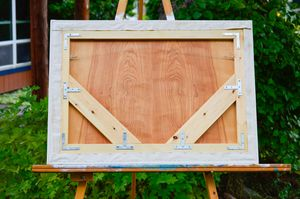 example of back of larger canvas frame