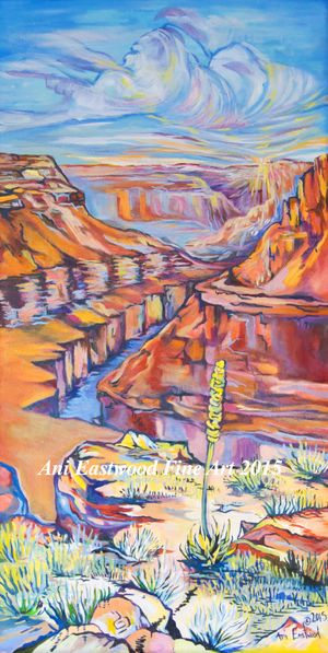 Grand Canyon Impressionist Painting