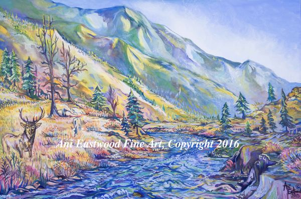Montana Elk Painting