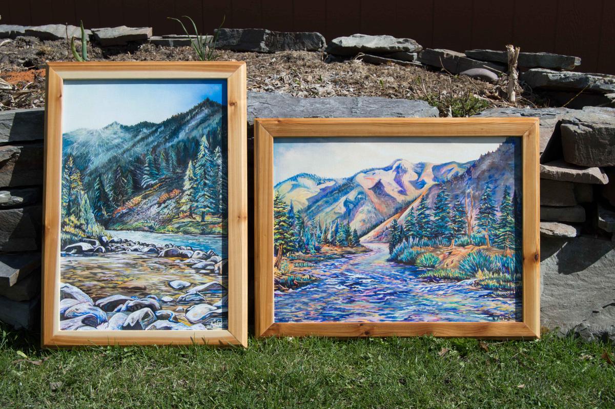 Handmade cedar frame options
