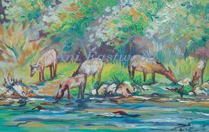Elk Painting montana artist
