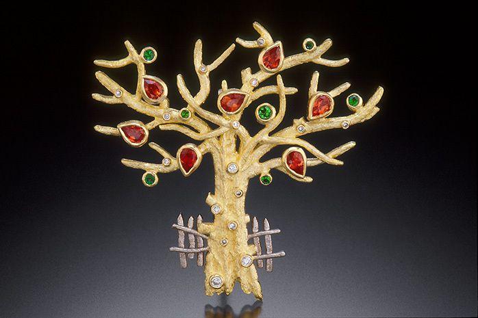 AUTUMN TREE BROOCH / PENDANT