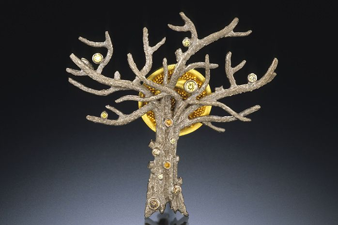 WINTER TREE BROOCH / PENDANT - series 1