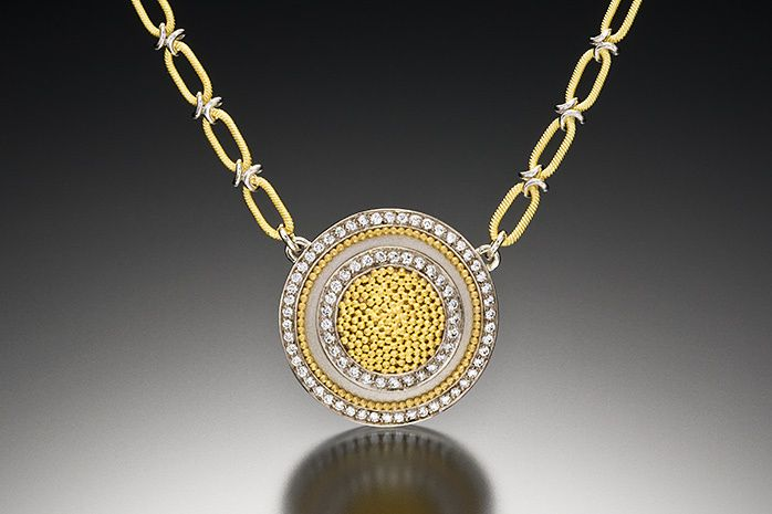 CIRCLE OF LIGHT NECKLACE, large