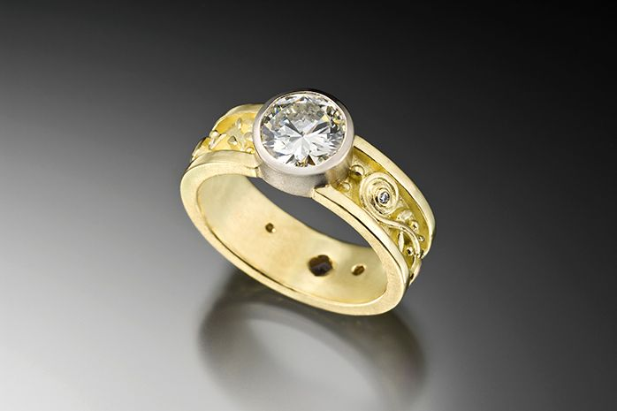 2 - Tone Engagement Ring