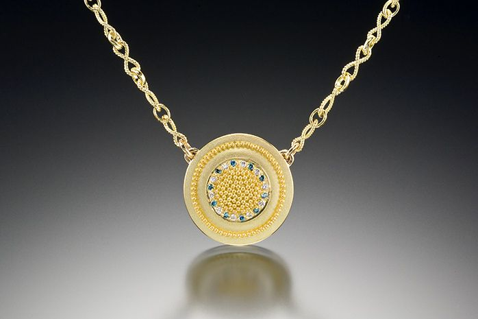 CIRCLE OF LIGHT NECKLACE (yellow gold)