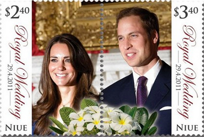 WILLIAM AND KATE, NEW ZEALAND ROYAL STAMP
