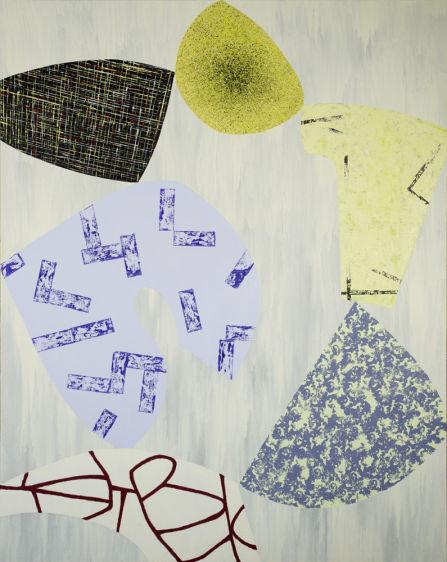 """Balancing Act/5""  2012 60x48 acrylic on canvas"