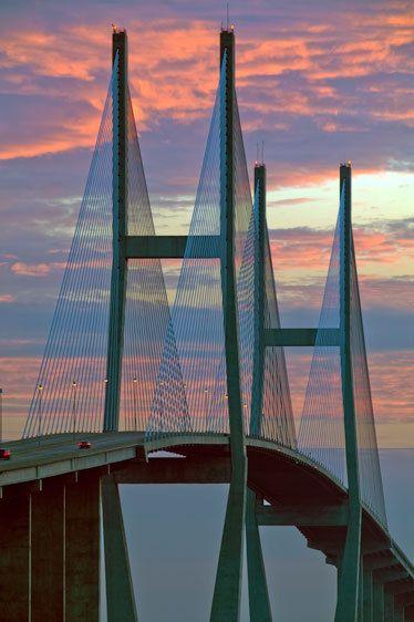 Sidney Lanier Bridge at Sunrise