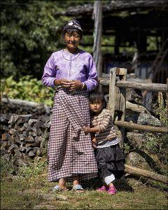 Bhutanese women & child